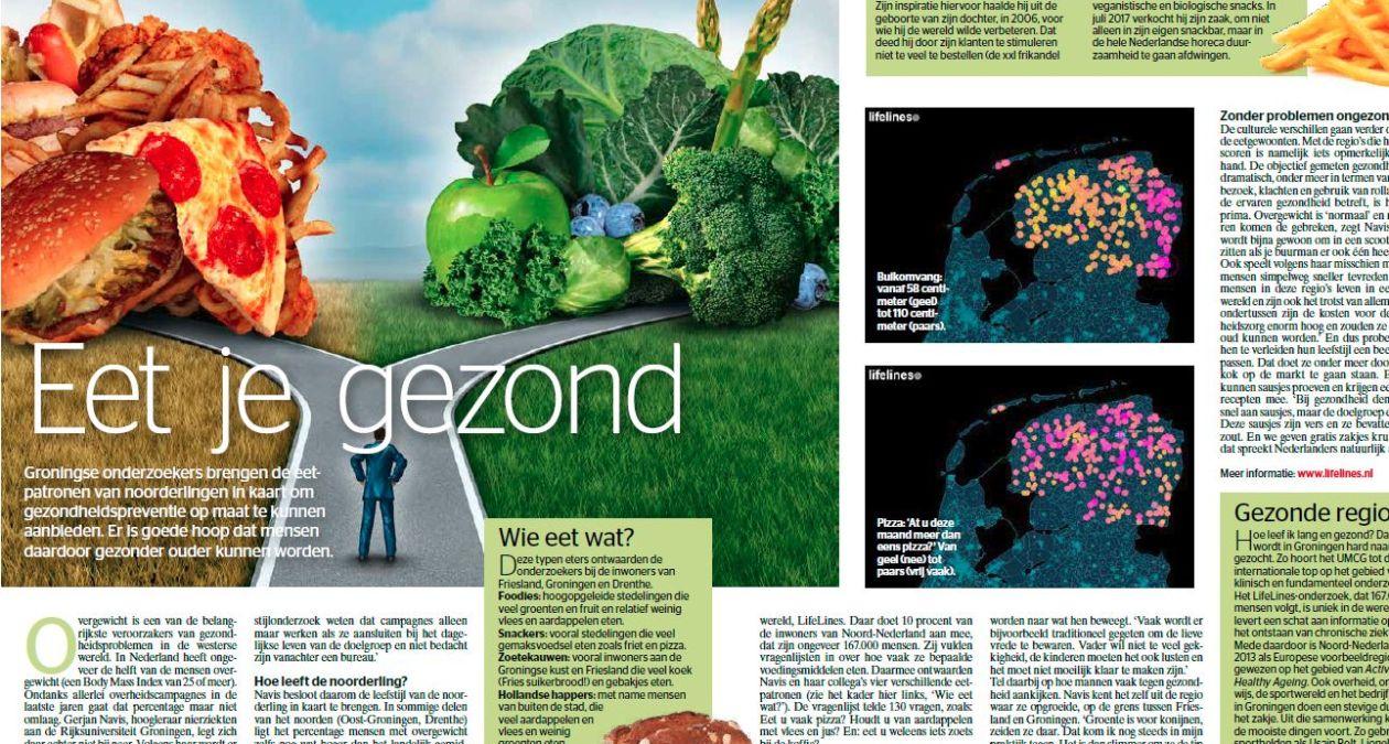 Onderzoek naar eetpatroon noorderlingen in tijdschrift quest eten